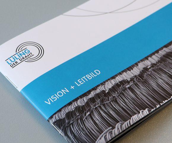 Flyer Vision und Leitbild Lueling
